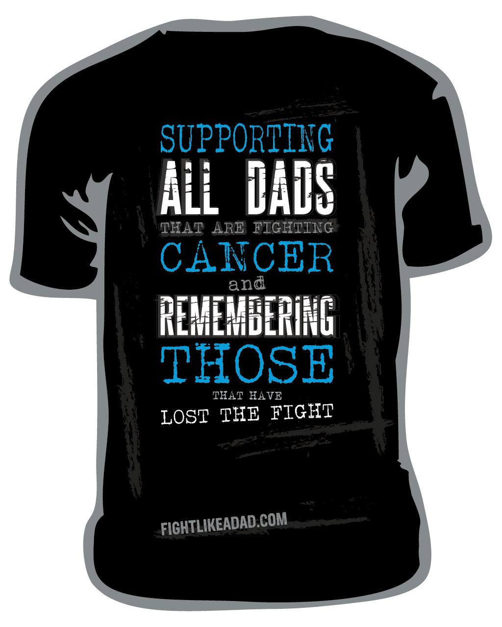 Fight like a Dad tshirt