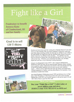 Jess's flyer for her event