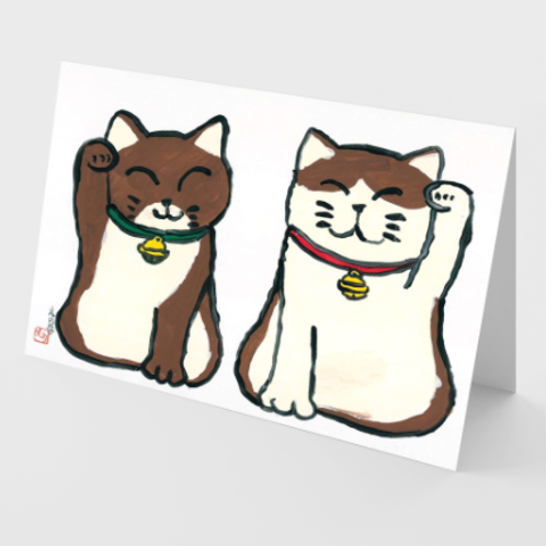Two Lucky Cats