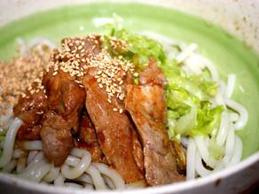 Udon Noodles with Teriyaki Style Pork Spare Rib