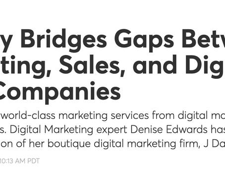 J Daley Bridges Gaps between Marketing, Sales and Digital for Tech Companies.