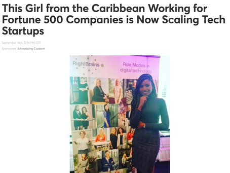 This Girl from the Caribbean Working for Fortune 500 Companies is Now Scaling Tech Startups