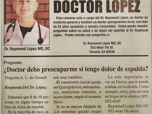 Su Capsula de Salud, con el Dr. Lopez
