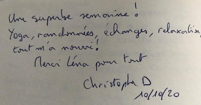 Jeûne Nature, Christophe, Octobre 2020