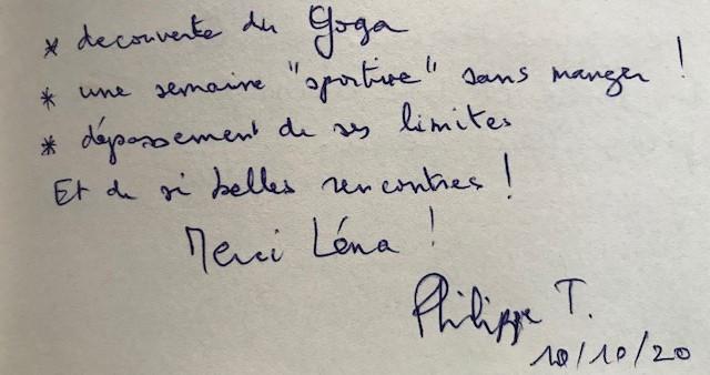 Jeûne Nature, Philippe, Octobre 2020