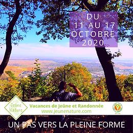 Jeûne Nature, FFJR, Oct 2020