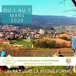 Jeûne Nature, FFJR, Mars 2020