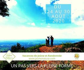 Stage AOUT 2020  Jeûne Nature