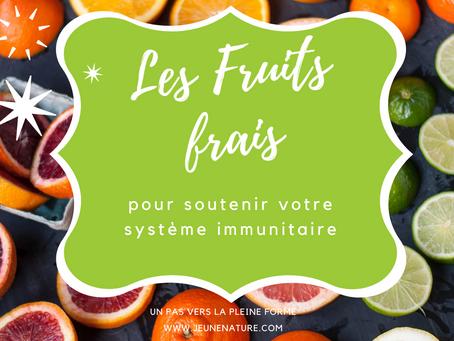 Les fruits frais- Sources de fibres