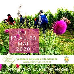 Jeûne Nature, FFJR, Mai 2020