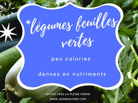 Les légumes-feuilles sont denses en nutriments