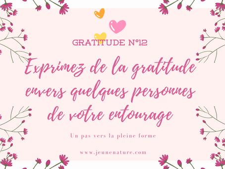 Exprimez de la gratitude