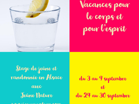 Le stage du 3 septembre est complet mais il y a encore des places disponible le 24 septembre