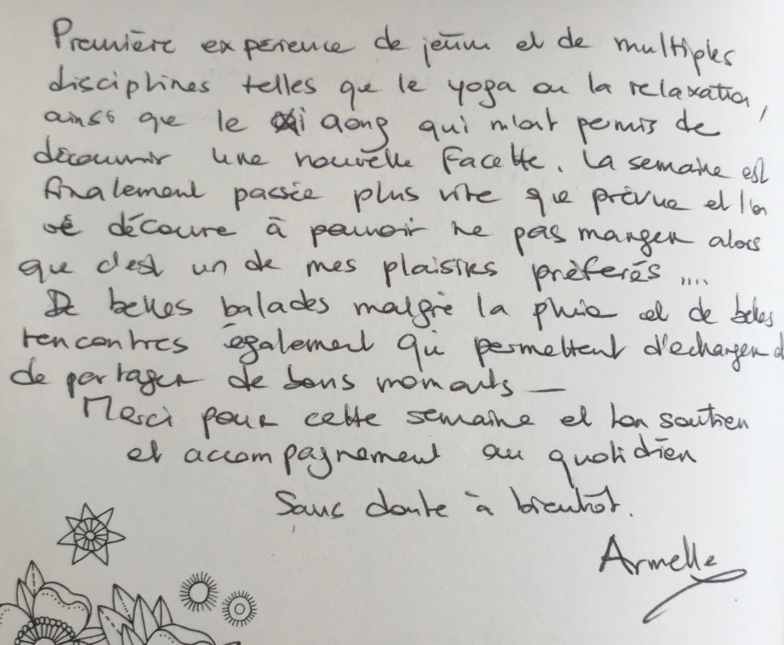 Jeûne Nature, Livre D'or, Alsace