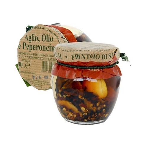 Frantoio di Sant'Agata d'Oneglia  Garlic, Extra Virgin Olive Oil, Chili Pepper