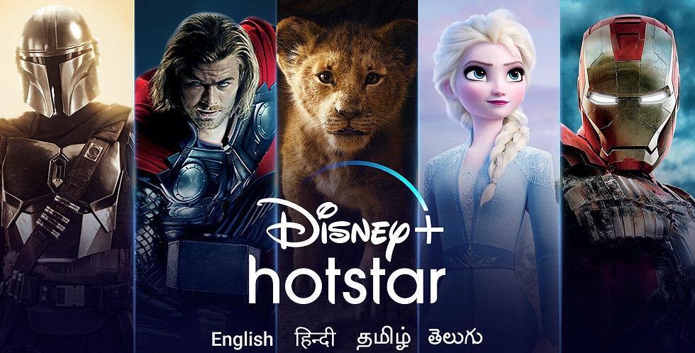 Disney+ hotstar Yearly Subscription (1 Screen)