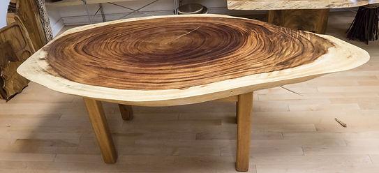 monkey pod live edge coffee table