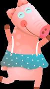 cerdo de dibujos animados