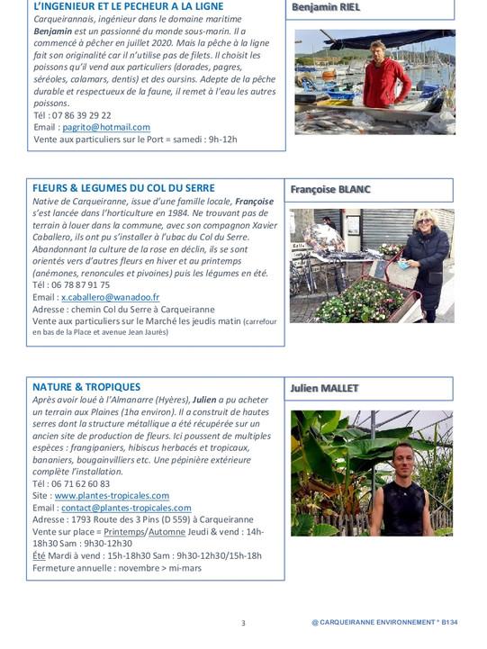 Bulletin 134 - 2e bulletin Producteurs 2