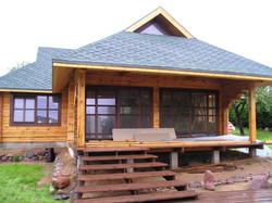 Wooden house built
