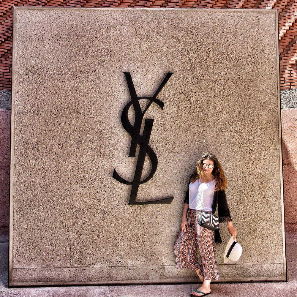 Leanne Scaletta outside the YSL museum, Marrakech