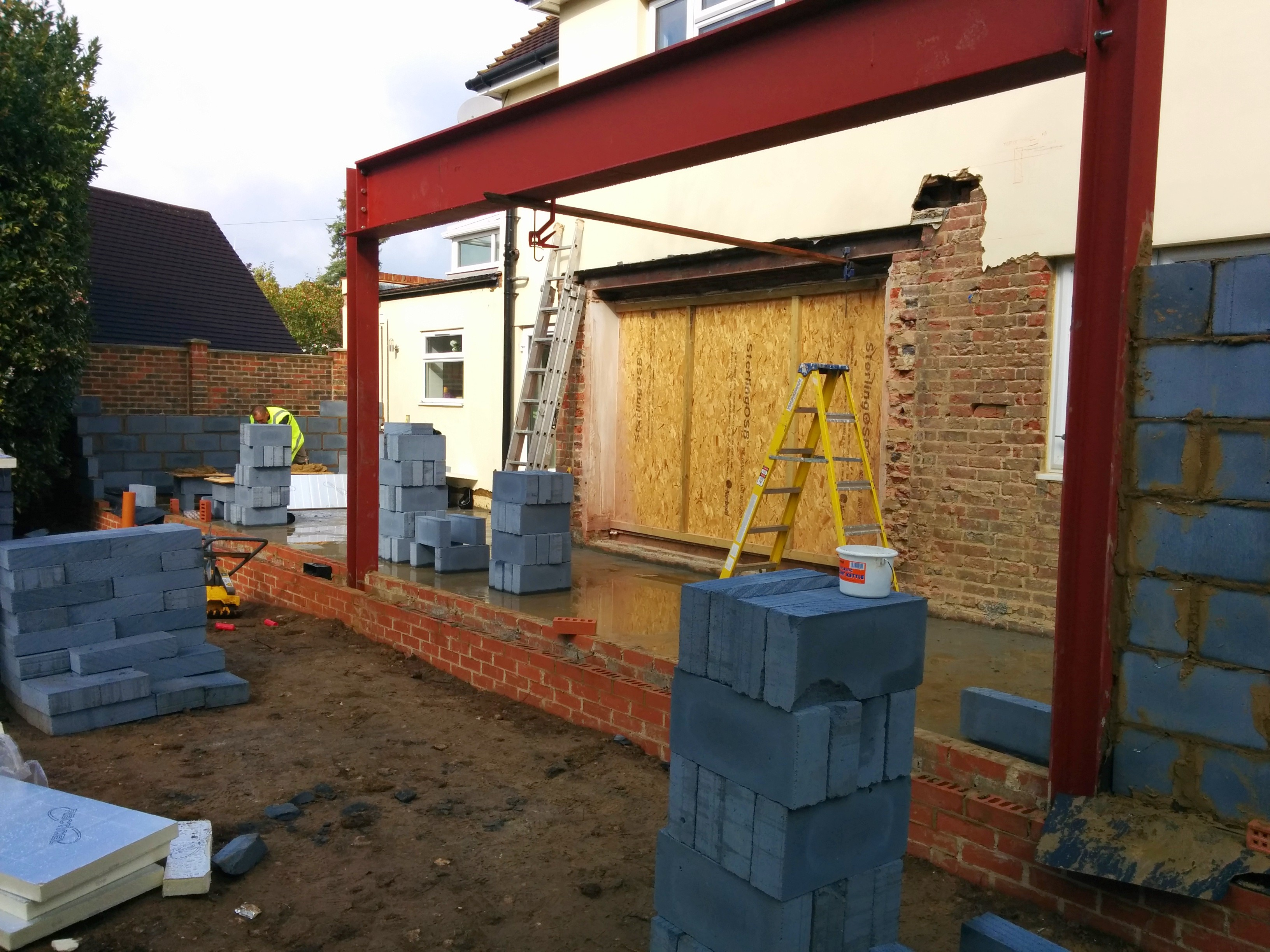 House extension in progress
