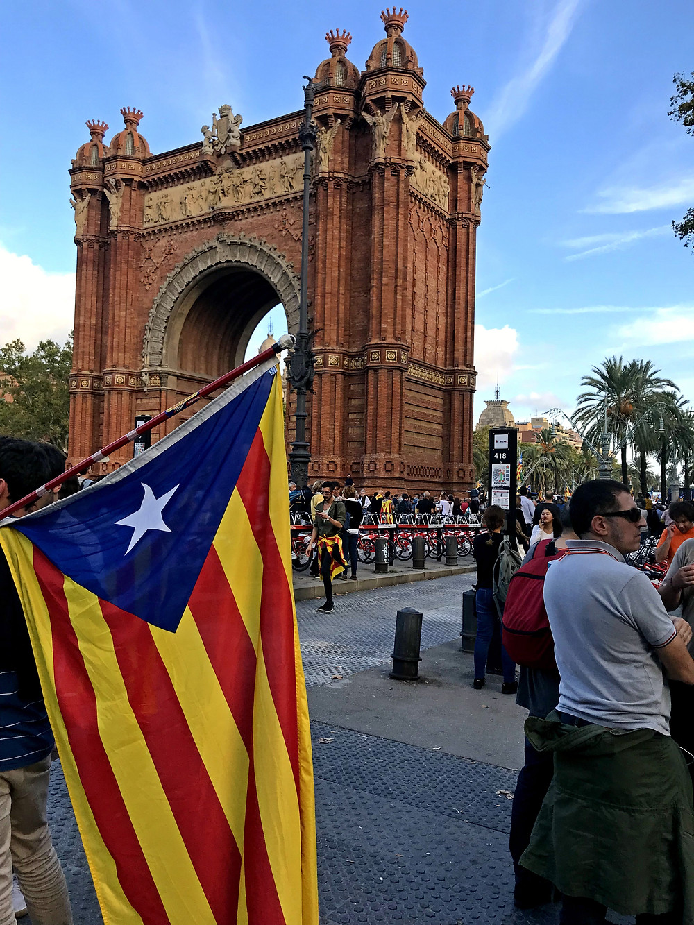 Arc de Triomf during the Independence Rally