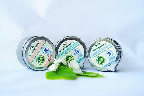Bio Duft und Massagekerze