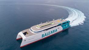 El innovador 'Eleanor Roosevelt' de Baleària, el buque con mayor eslora del mundo, realiza las prime