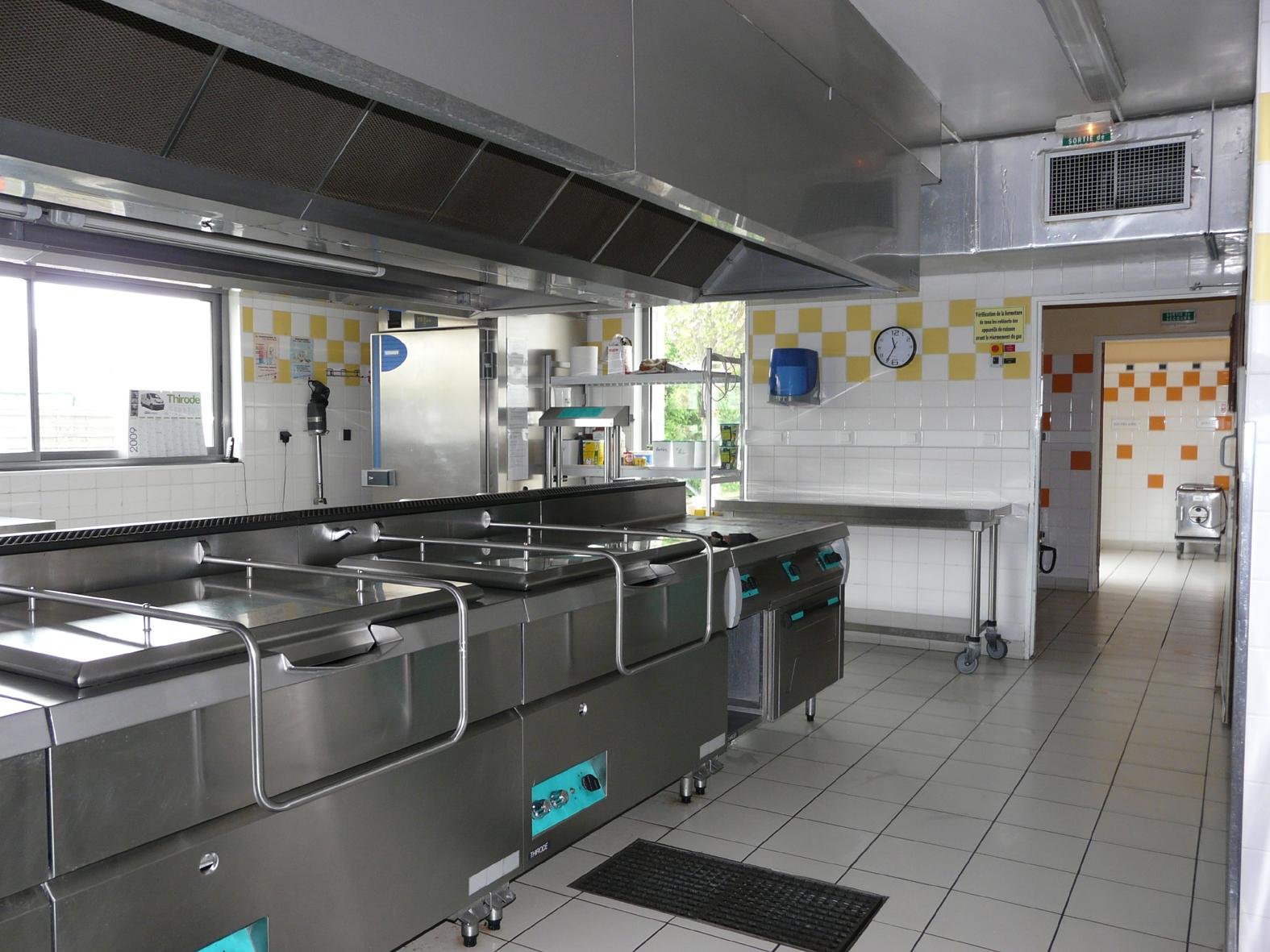 cuisine du centre de restauration