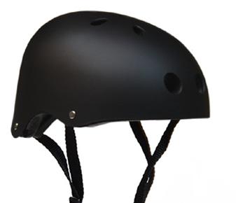レンタル品の大人・子供用スポーツヘルメット黒の商品写真