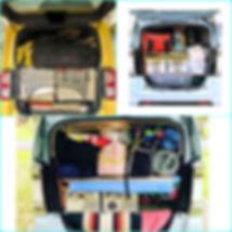 軽自動車の車内が荷物で一杯になっているがぞ画像