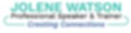 Jolene Watson Logo Professional Speaker