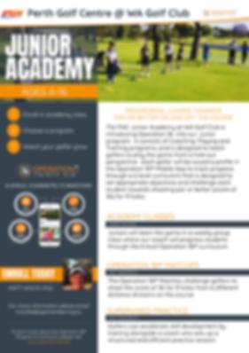 Junior Golf Academy Program