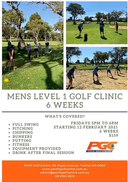 Mens Level 1 Golf Clinic