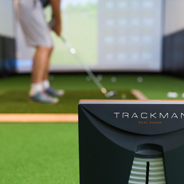 Indoor Golf. Trackman.