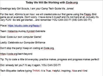 Girl Scout Lesson Plan