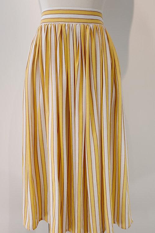 Jupe en coton à rayures jaunes - ALE MMXVIII
