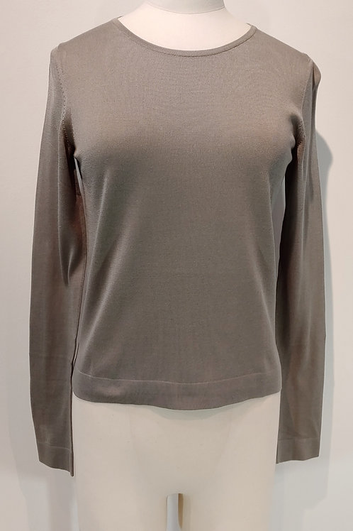 Pull gris col rond HERMES