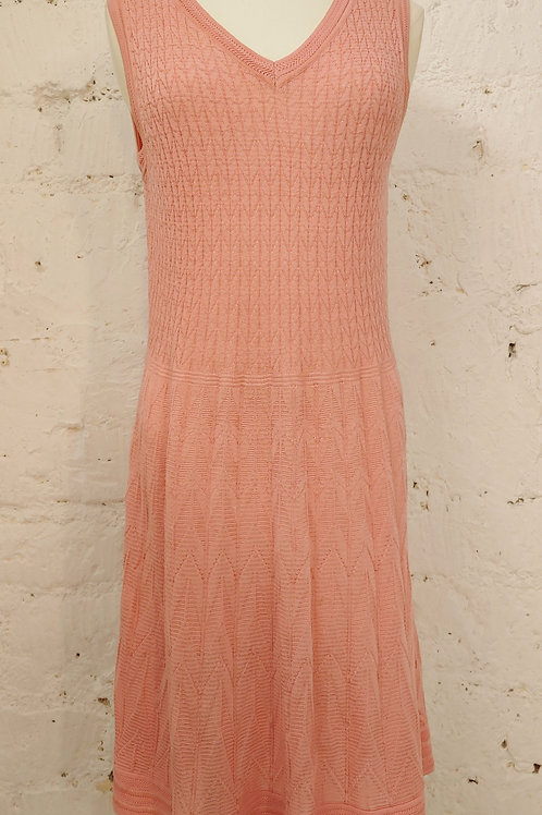 Robe maille rose