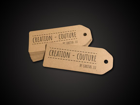 Caritas - Création couture  Imprint Paper laser cutting