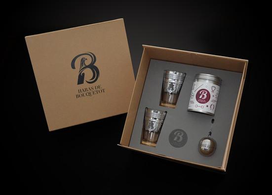 Gift Box  Haras de Bouquetot Normandy Box interior design Foam laser cutting and logo engraving