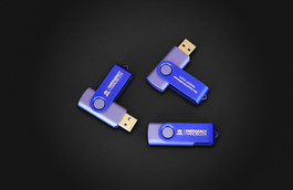 UNHCR - Emergency Handbook  USB Key Logo laser engraving