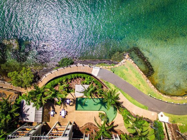 Aerial view of Sunrise Cove