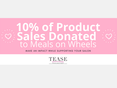 Tease Hair Boutique Donates Over $500 to Meals on Wheels and Offers Product Delivery during Pandemic