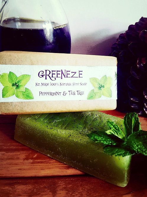 Peppermint & Tea Tree Hemp Soap