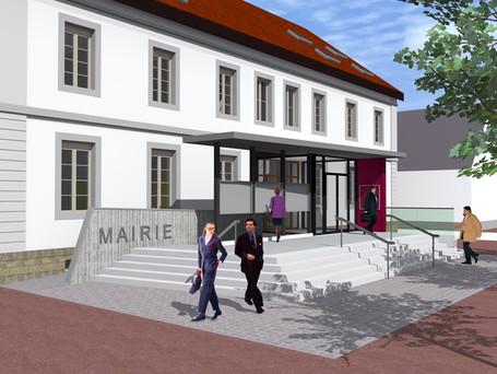 Vue sur Entrée principale Mairie
