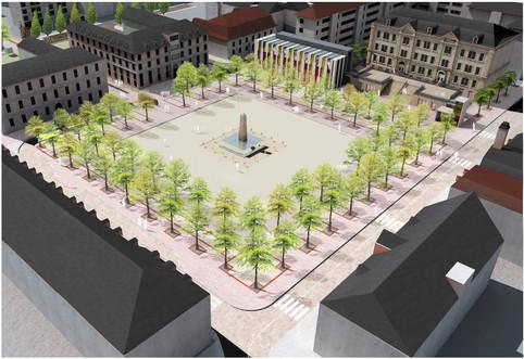 Espaces urbains centraux à Huningue