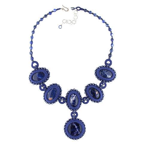Sodalite statement necklace