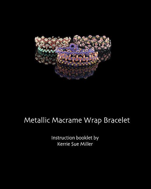 Metallic Macrame Wrap Bracelet Instruction Book